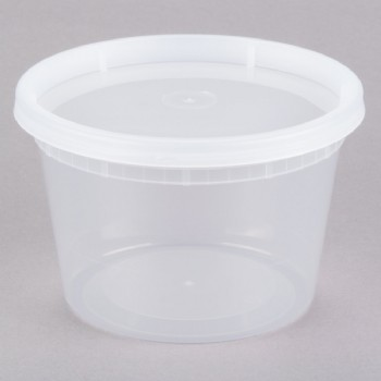 16OZ Microwavable Translucent Plastic Deli Container With LID