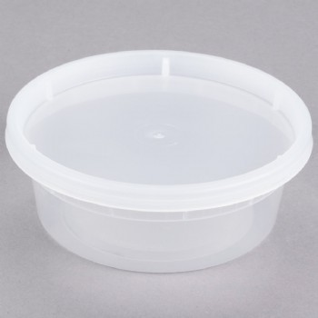 8OZ Microwavable Translucent Plastic Deli Container With LID