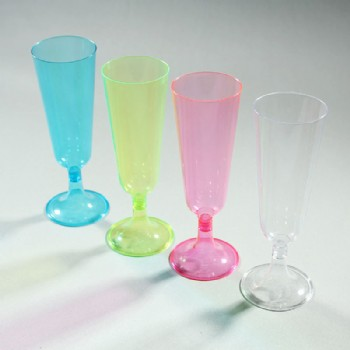 EaMaSy Party 5 oz. Clear Plastic 2 Piece Champagne Glass