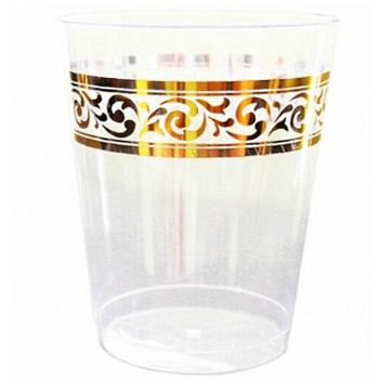 Easy Party Decor Classic 10 oz Gold Plastic Tumblers