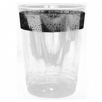 Easy Party Decor Inspiration 10 oz Silver Plastic Tumblers