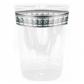 Easy Party Decor Symphony 10 oz Silver Plastic Tumblers